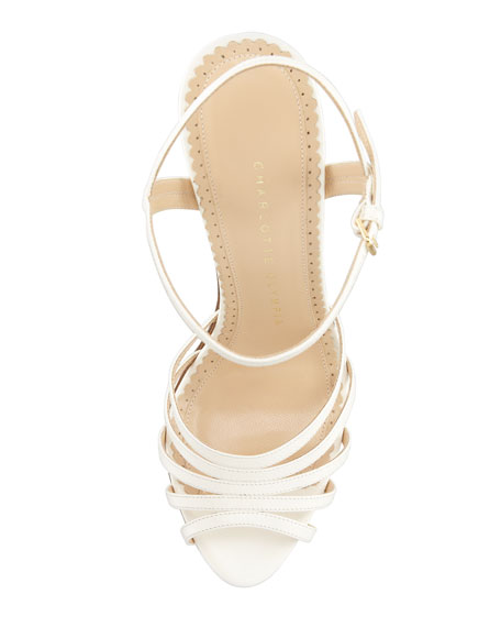 Charlotte Olympia Hollywood Lettered Wedge Sandal