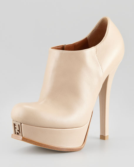 Fendista Leather Platform Ankle Boot