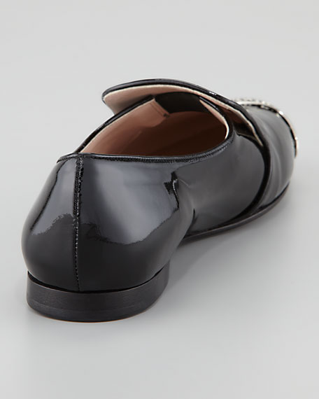 Vernice Perforated Metal Cap Toe Loafer