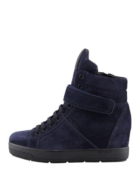 Suede Wedge Sneaker