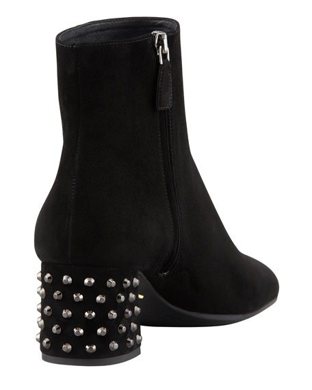 STUD HEELED ANKLE BOOT
