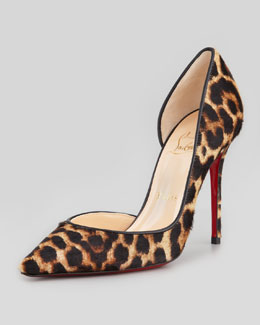 Christian Louboutin Iriza Leopard-Print Calf Hair Red Sole Pump
