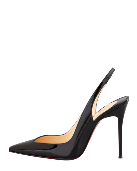 Flueve Pointed-Toe Slingback Pump, Black
