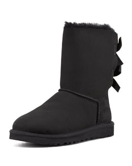 UGG Australia Bailey Bow-Back Short Boot, Black