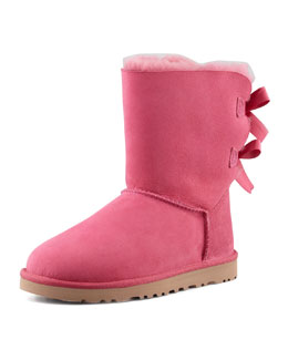 UGG Australia Bailey Bow-Back Short Boot, Pink