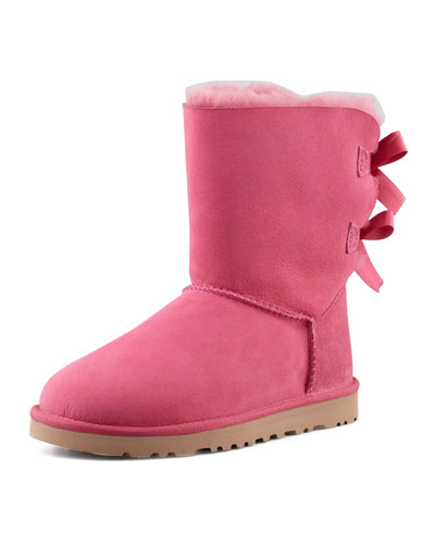 Bailey Bow-Back Short Boot, Pink