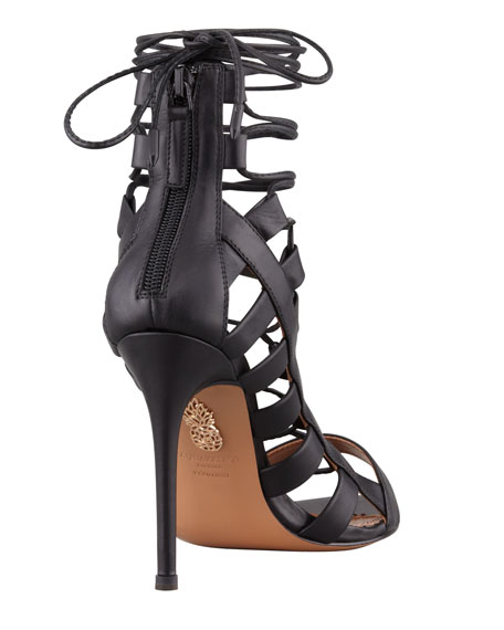 Amazon Lace-Up Ankle-Wrap Sandal