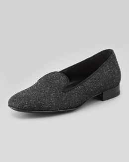 Saint Laurent Glitter Smoking Slipper