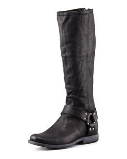 Frye Philip Harness Extended Calf Boot, Black