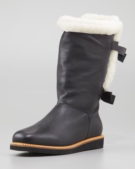 Napa Fur-Lined Bow-Back Boot
