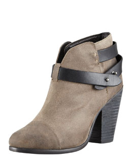 Rag & Bone Harrow Waxed Suede Ankle Boot, Clay