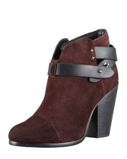 Rag & Bone Harrow Suede Ankle Boot, Burgundy