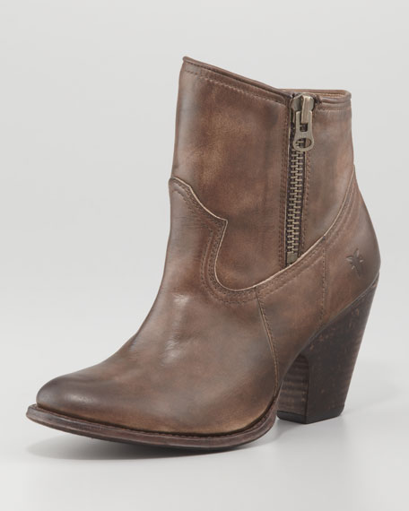 Angela Short Modified Western Boot, Brown