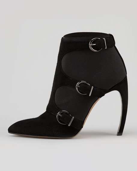 Venom Triple-Buckle Ankle Boot