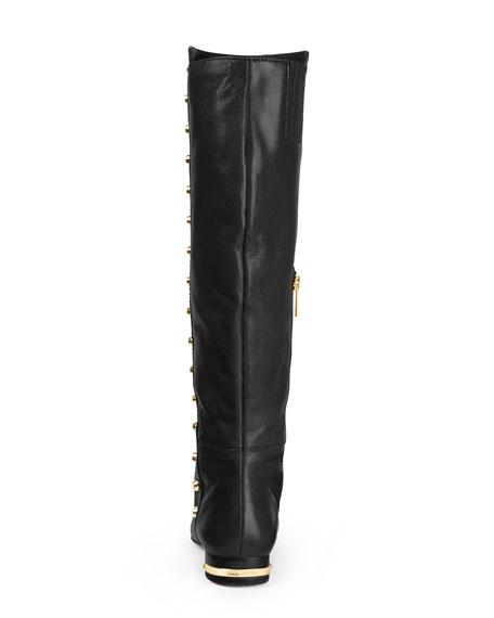 michael michael kors ailee flat studded knee boot