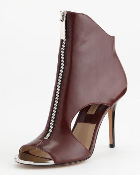 Michael Kors Mila Zip-Front Sandal