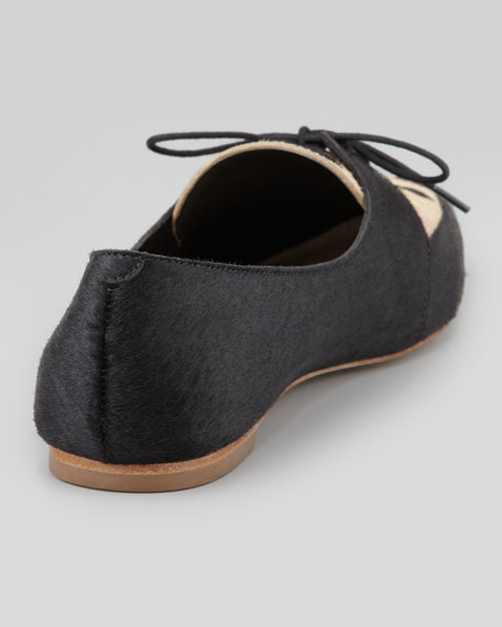 Beatriz Pointed-Toe Lace-Up Slipper