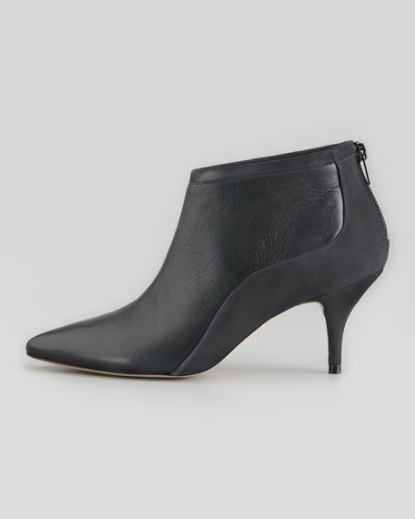 Reese Pointed-Toe Bootie, Black