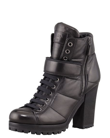 Lace-Up Ankle-Boot, Black