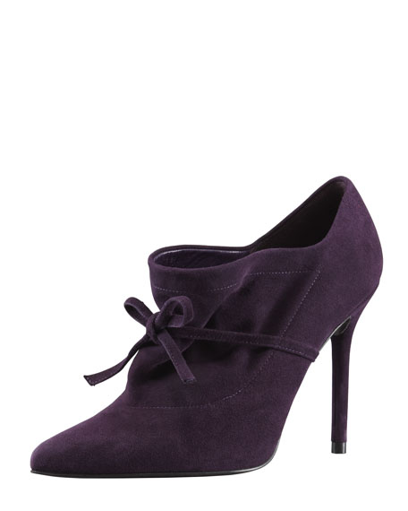 Aokhi Pointy Suede Bootie, Concord Purple