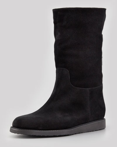 My Ease 1 Shearling-Lined Suede Boot
