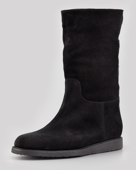 Salvatore Ferragamo Suede Shearling-Lined Boots choice sale free shipping buy cheap pictures fAXrV6nVEL