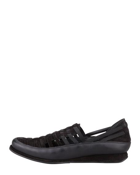Movein Strappy Elastic Sneaker, Black