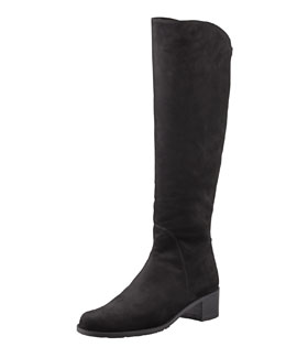 Stuart Weitzman Pentagon Suede Stretch-Back Knee Boot