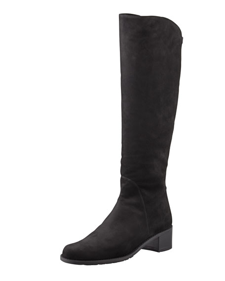 Pentagon Suede Stretch-Back Knee Boot