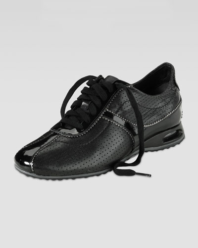Cole Haan Air Bria Perforated Leather Oxford, Black