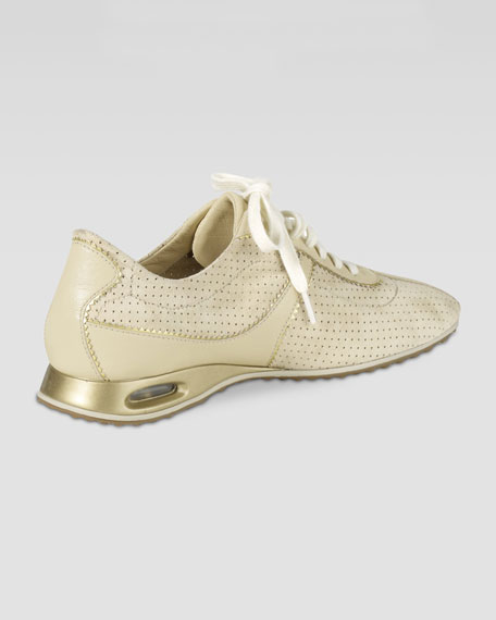 Air Bria Perforated Suede Oxford, Sandshell