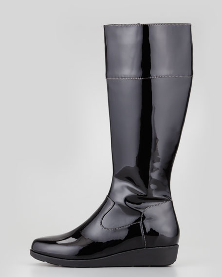 Air Tali Patent Rainboot, Black