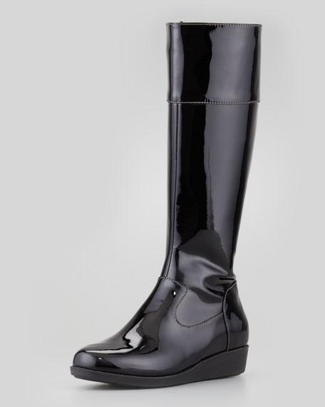Air Tali Patent Rainboot, Black