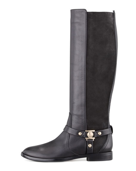 Karren Leather & Suede Knee-Length Boot