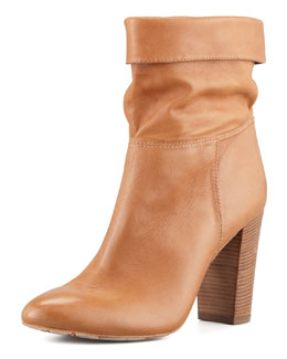 VC Signature Taresa Slouchy Leather Bootie, Camel