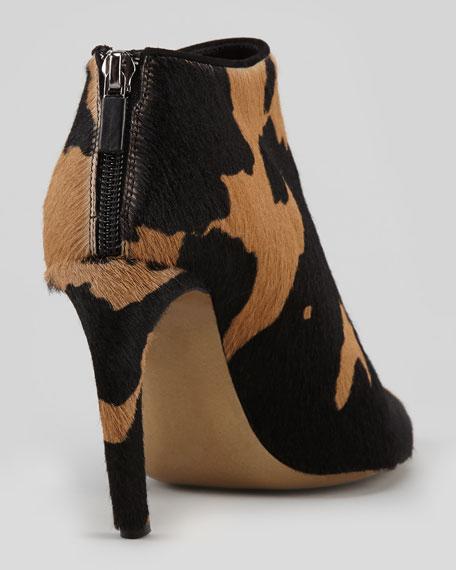 Giraffe-Print Calf Hair Bootie
