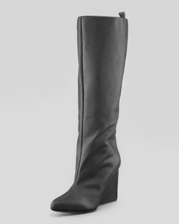 See by Chloe Pointy-Toe Wedge Knee Boot