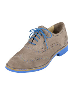 Cole Haan Alisa Brogue Oxford, Maple Sugar/Blue