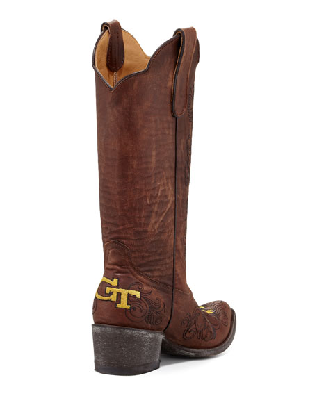 Georgia Tech Tall Gameday Boot, Brass