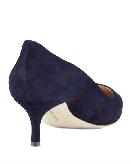 BB Suede 50mm Pump, Navy