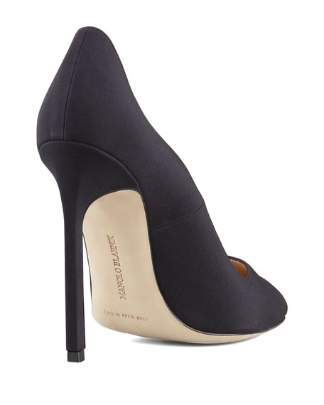 BB Crepe 115mm Pump, Black (Made to Order)
