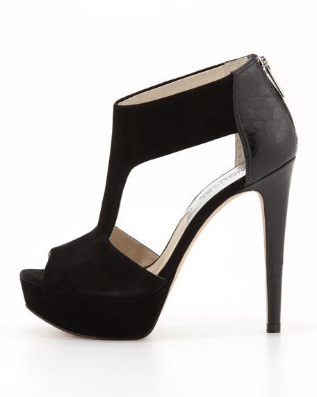 Leighton Suede T-Strap Sandal