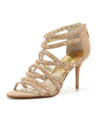MICHAEL Michael Kors  Maddie Studded T-Strap Sandal