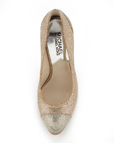Sinclair Glittered Cap-Toe Pump