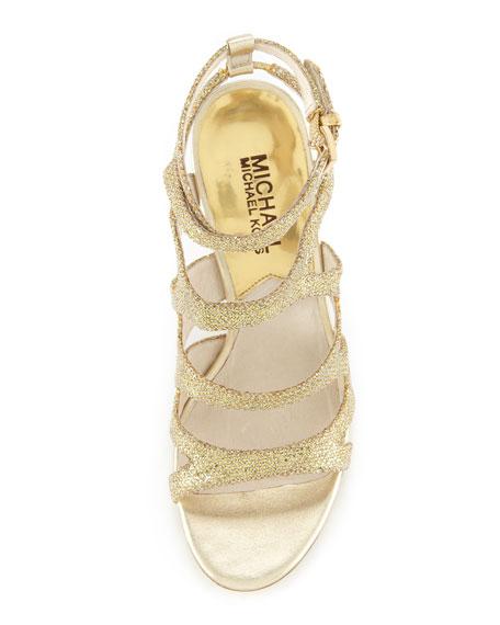 Yvonne Glittered Strappy Sandal