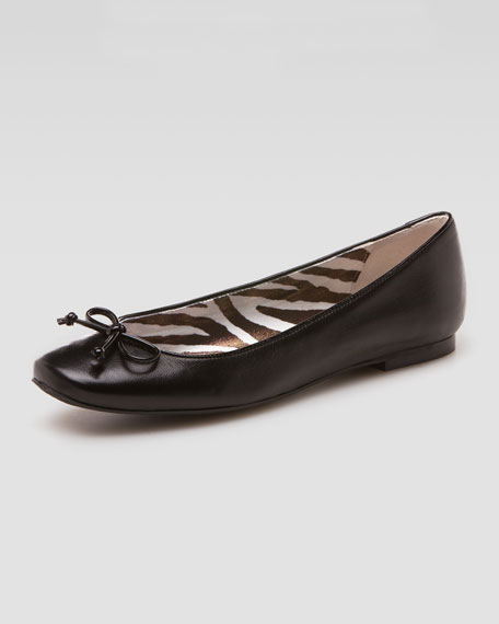 Stringon Napa Leather Ballerina Flat