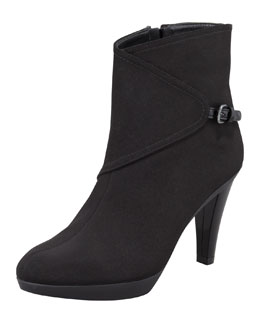 Stuart Weitzman Gorgeous Gore-Tex Buckled-Side Bootie