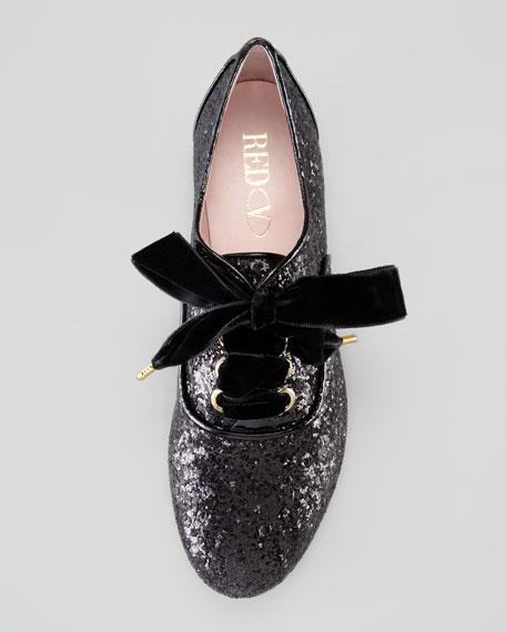 Lace-Up Glitter Oxford