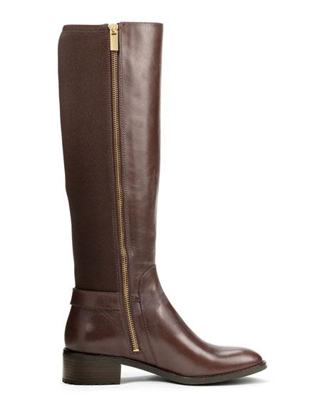Hamilton Leather-Stretch Knee Boot
