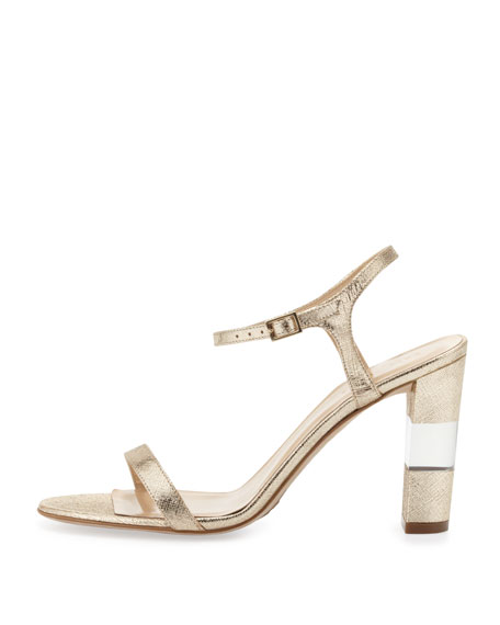 ice metallic ankle-strap sandal